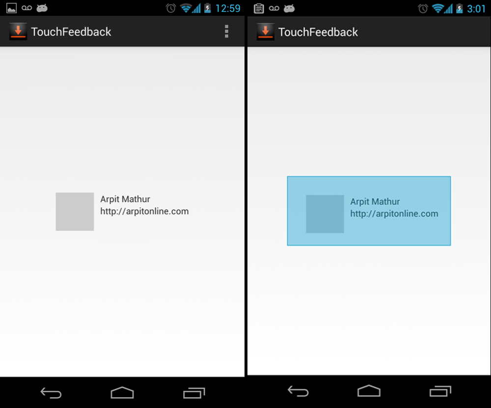 Android: Implementing Touch Feedback on Views