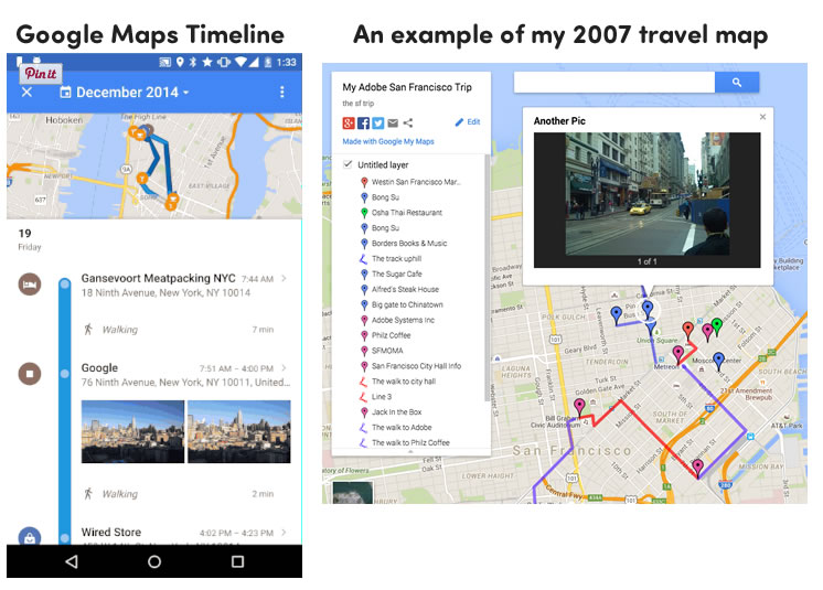 Google Maps Timelines and my 2007 maps hack